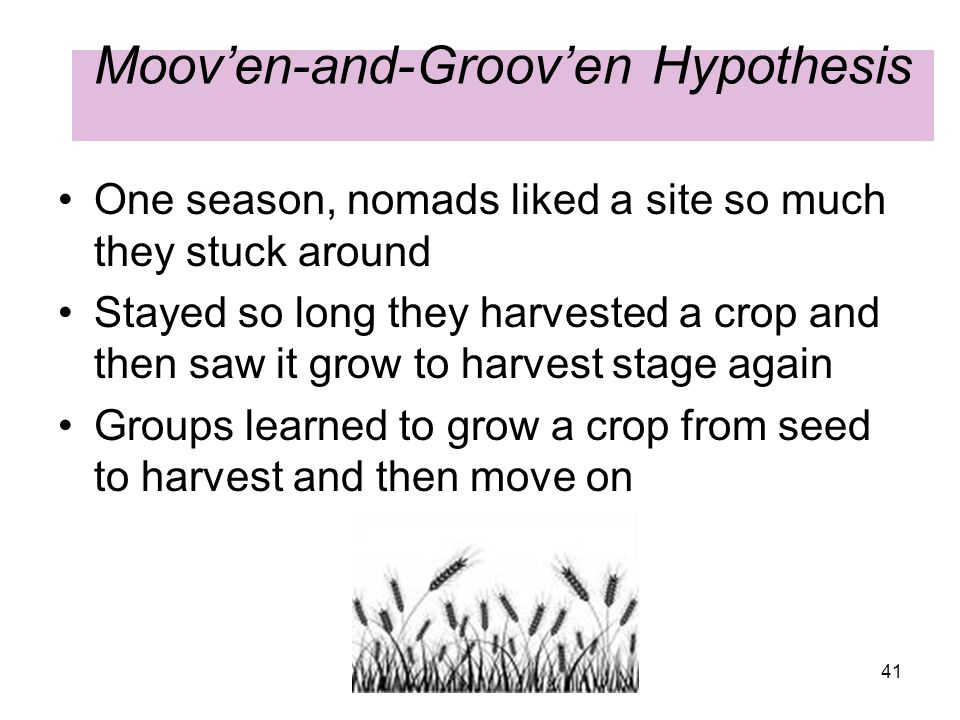 Moov'en-and-Groov'en Hypothesis