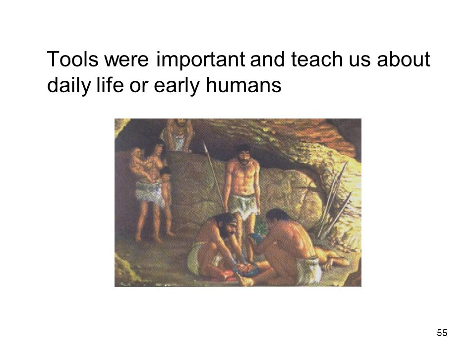 Tools were important and teach us about daily life or early humans