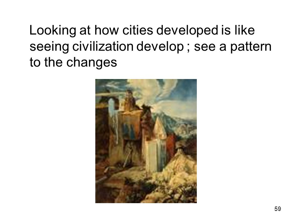 Looking at how cities developed is like seeing civilization develop ; see a pattern to the changes