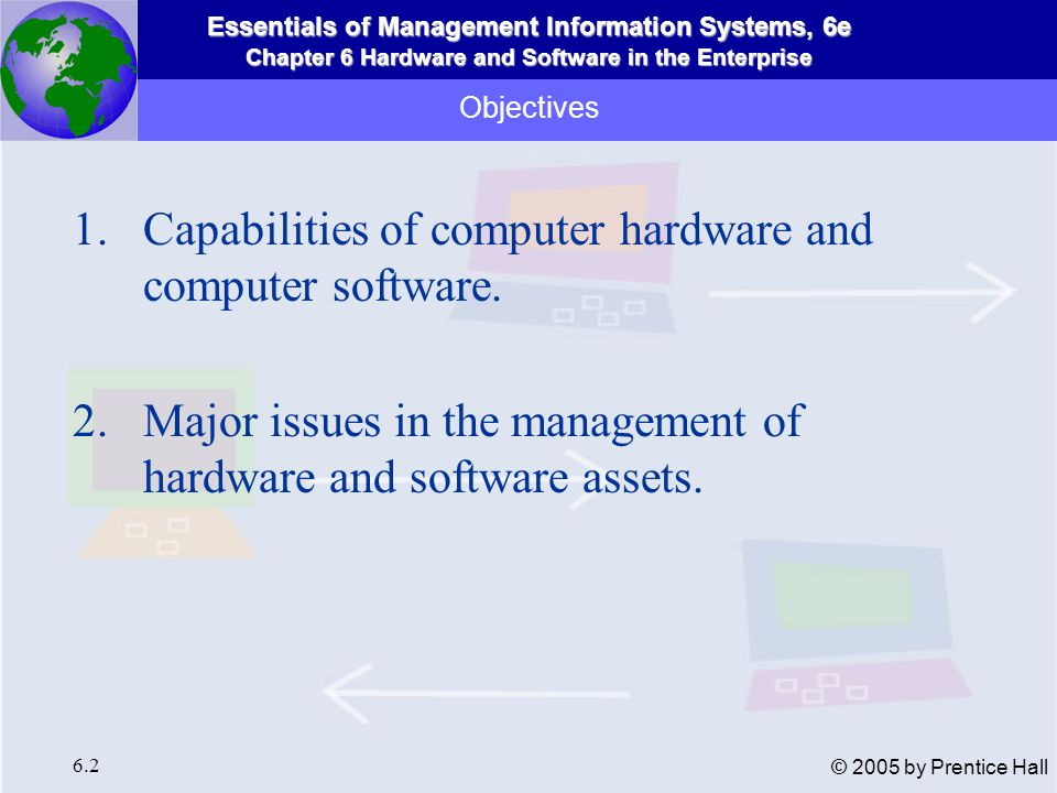 Capabilities of computer hardware and computer software.