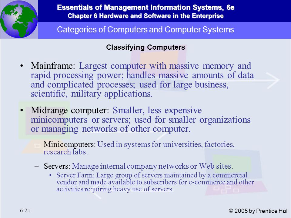 Categories of Computers and Computer Systems