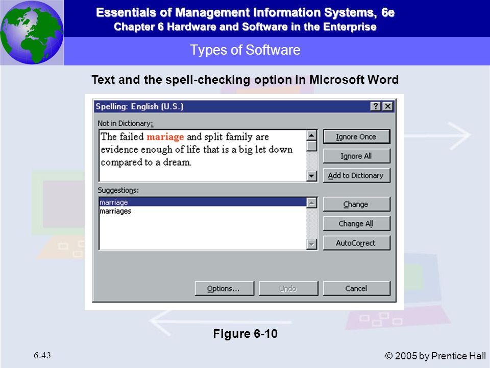 Text and the spell-checking option in Microsoft Word