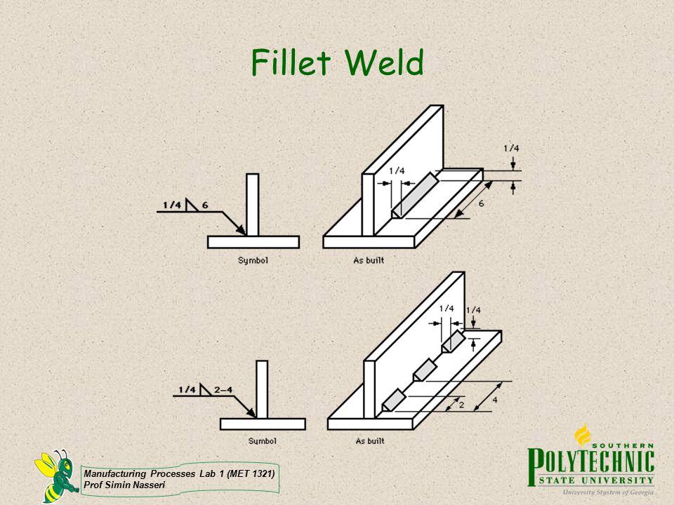 Fillet Weld Manufacturing Processes Lab 1 (MET 1321)
