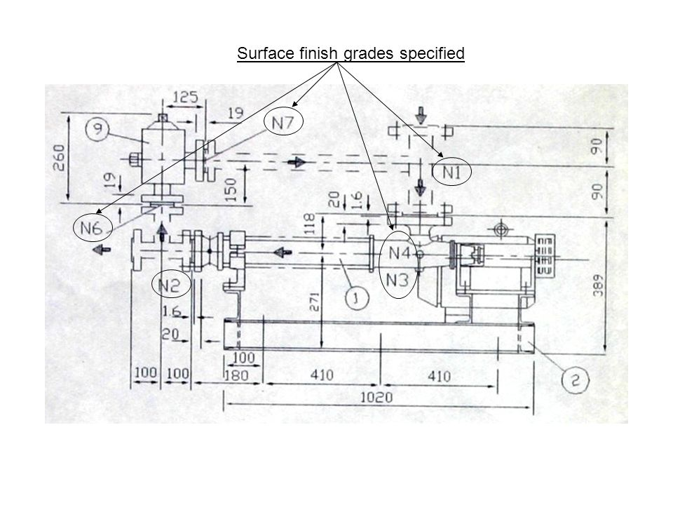 Surface finish grades specified