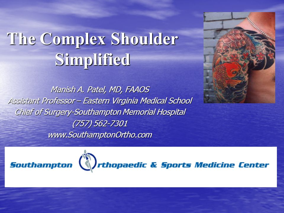 The Complex Shoulder Simplified