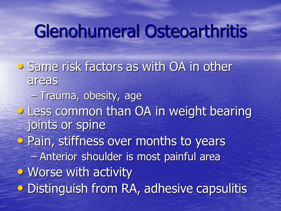 Glenohumeral Osteoarthritis