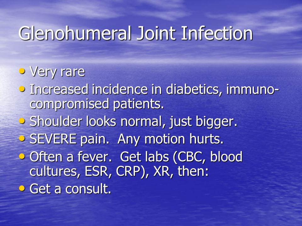 Glenohumeral Joint Infection