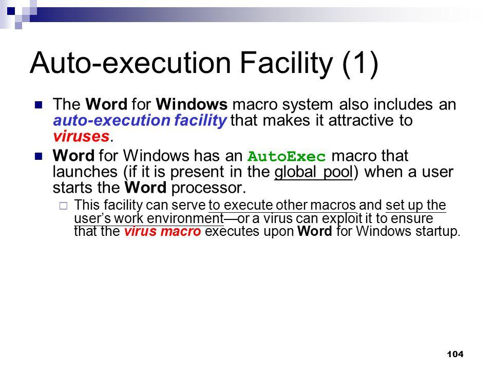 Auto-execution Facility (1)