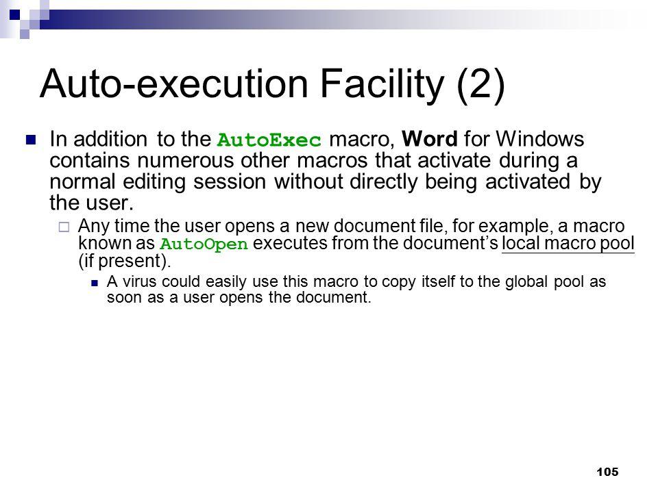 Auto-execution Facility (2)