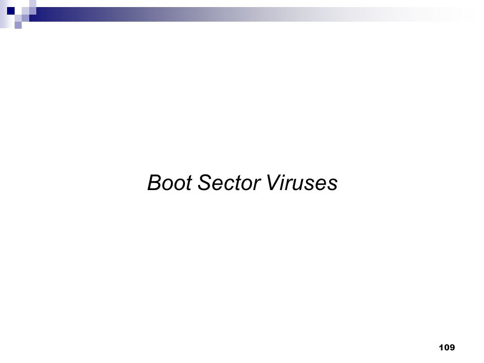 Boot Sector Viruses