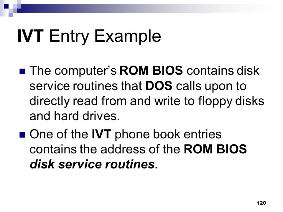 IVT Entry Example