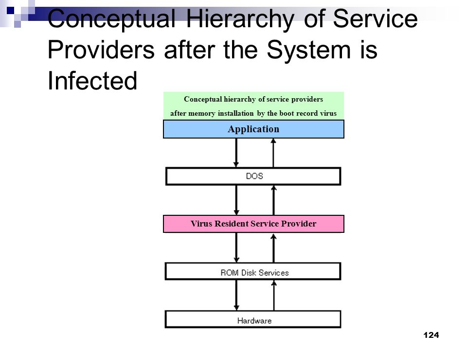 Conceptual Hierarchy of Service Providers after the System is Infected