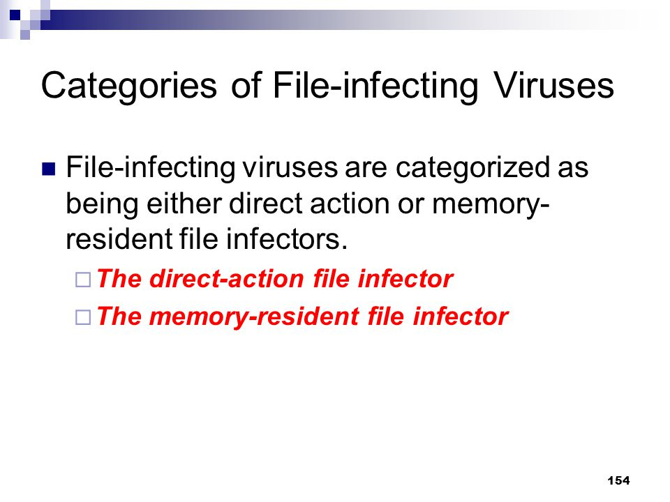 Categories of File-infecting Viruses