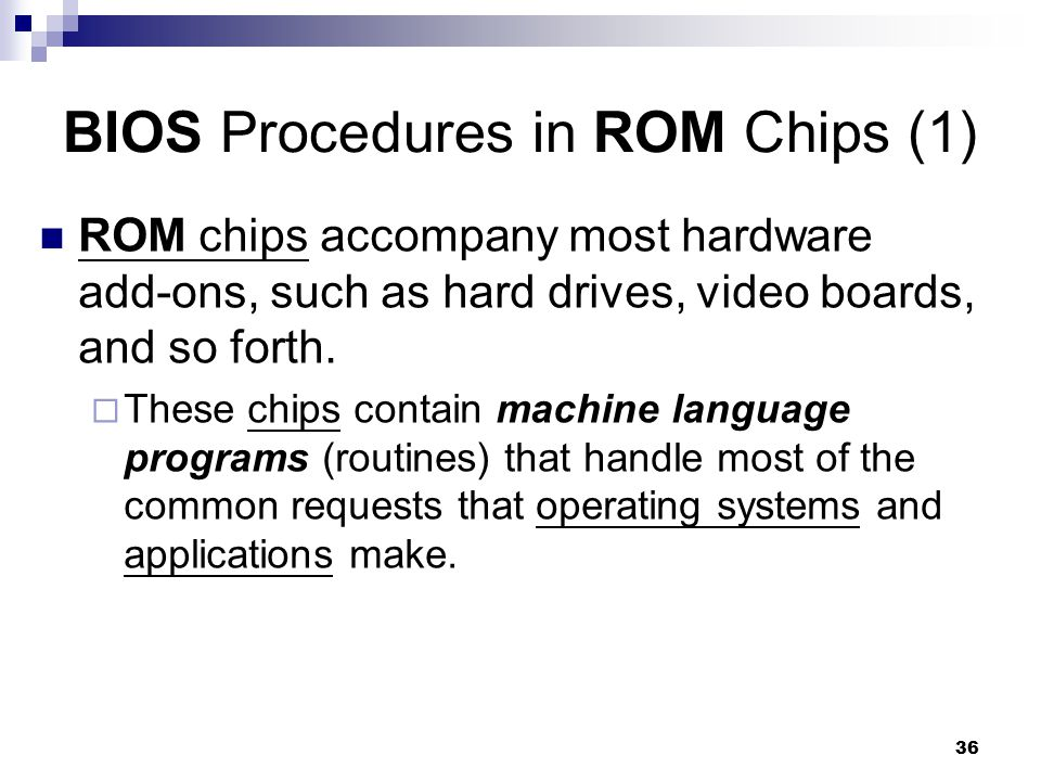 BIOS Procedures in ROM Chips (1)