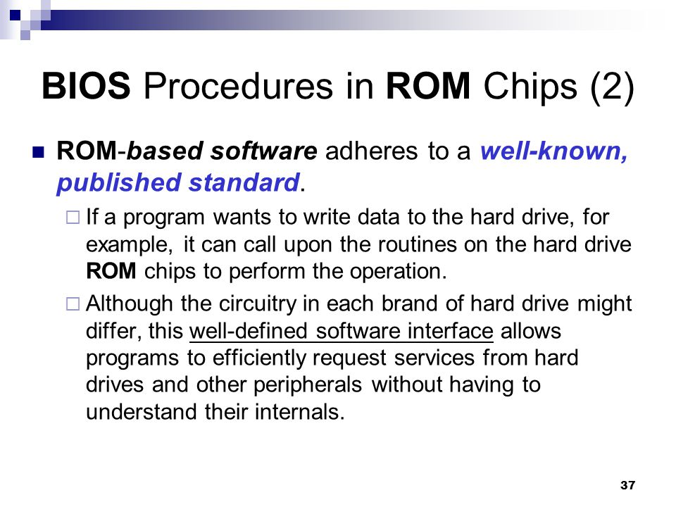 BIOS Procedures in ROM Chips (2)