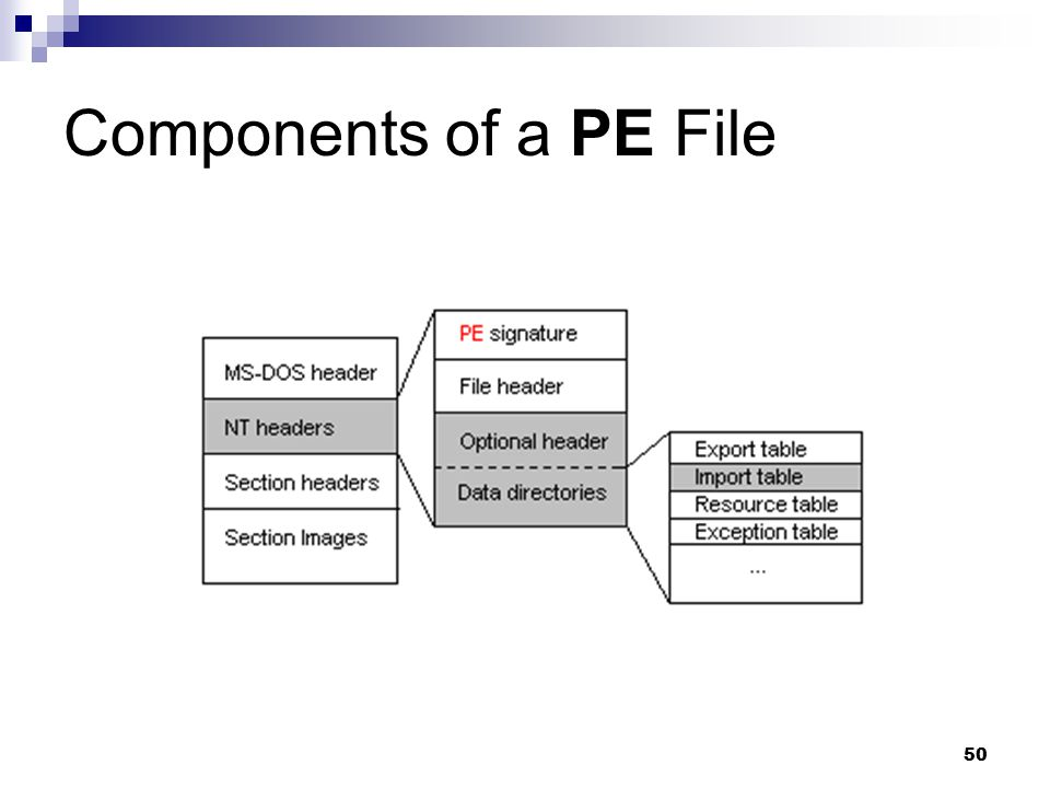 Components of a PE File