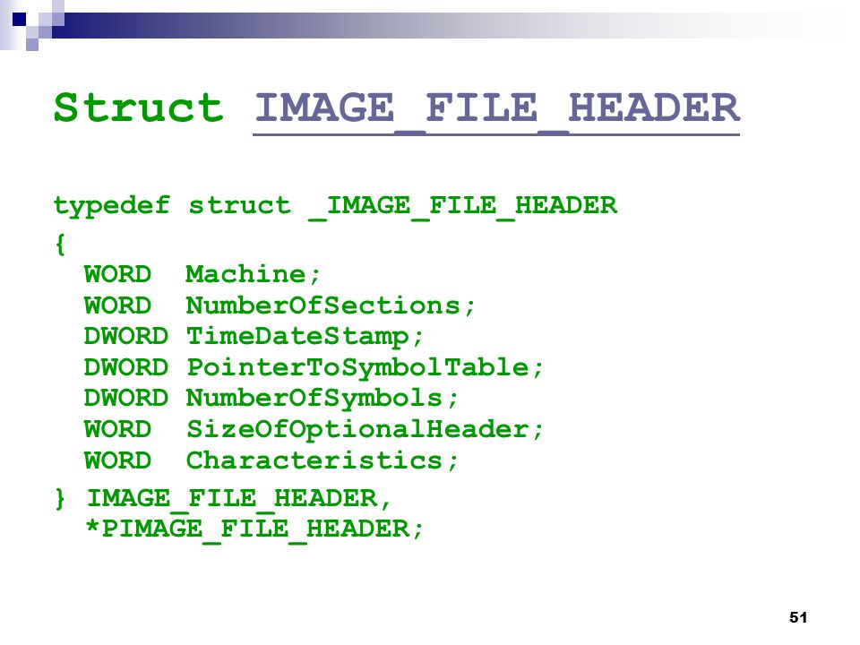 Struct IMAGE_FILE_HEADER