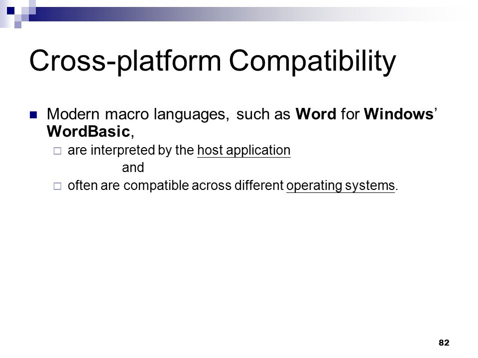 Cross-platform Compatibility