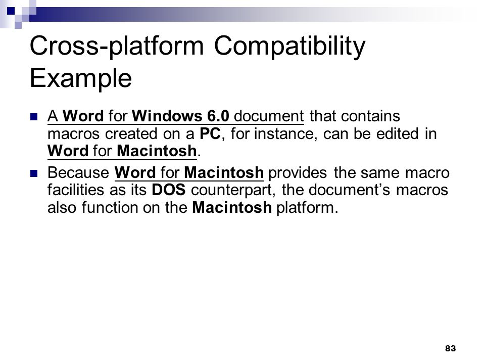 Cross-platform Compatibility Example