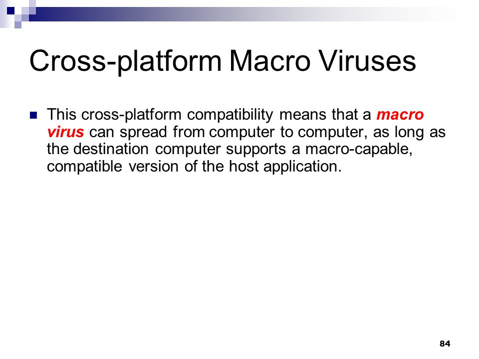Cross-platform Macro Viruses