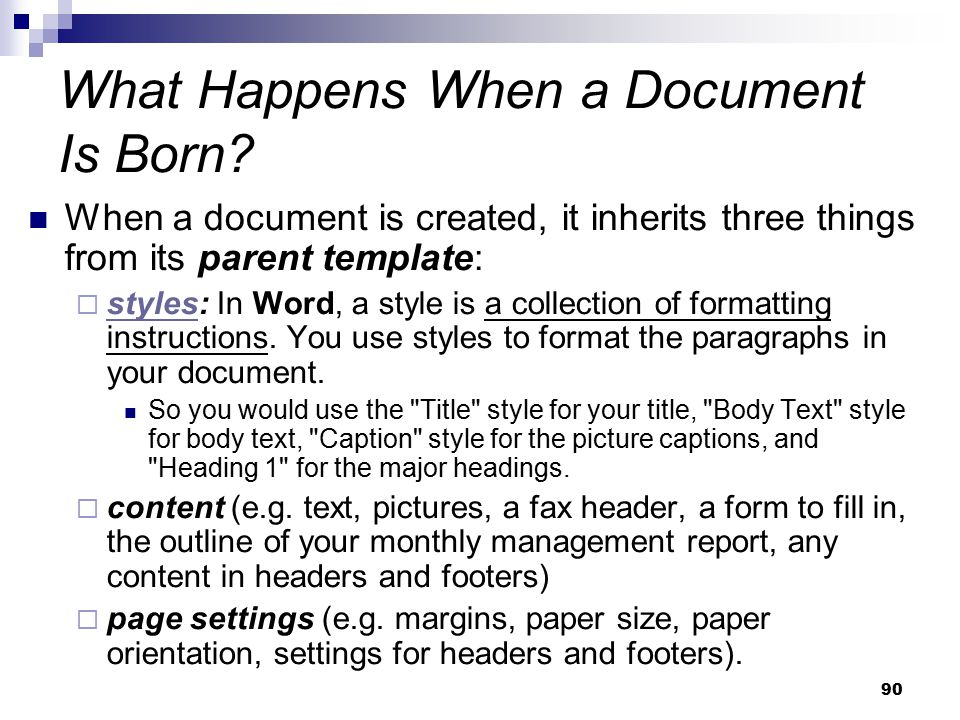 What Happens When a Document Is Born