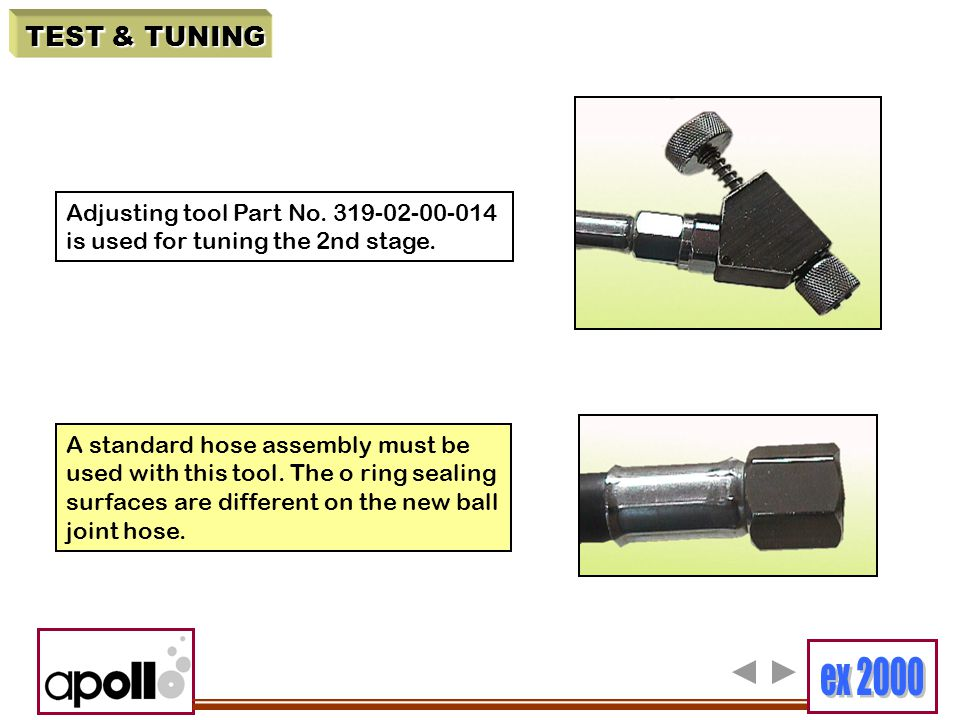 TEST & TUNING Adjusting tool Part No. 319-02-00-014