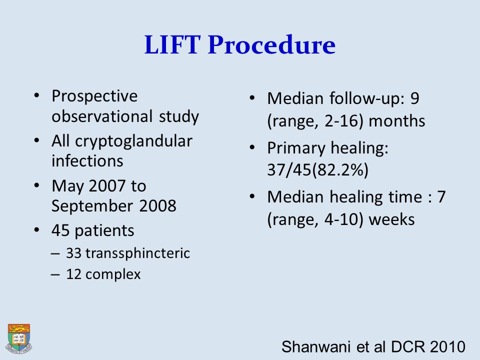 LIFT Procedure Prospective observational study