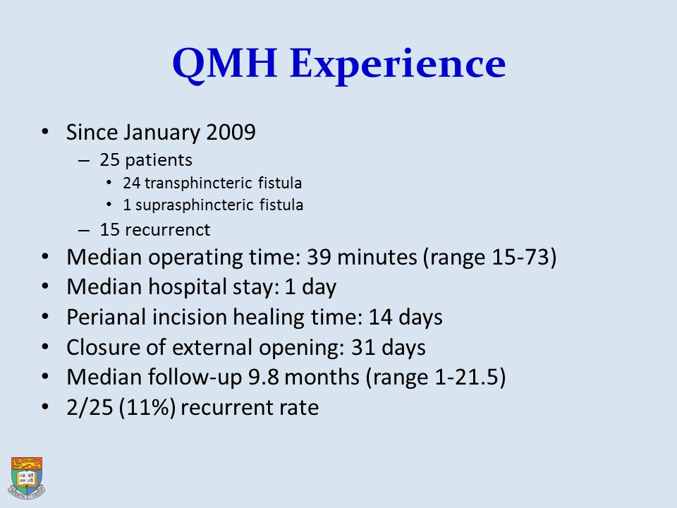QMH Experience Since January 2009