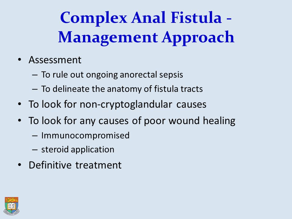 Complex Anal Fistula -Management Approach