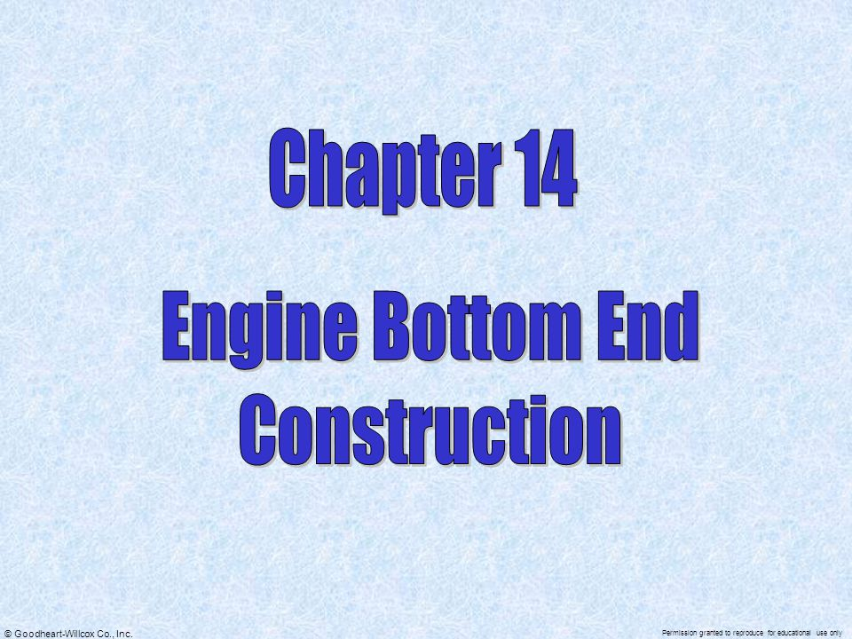 Chapter 14 Engine Bottom End Construction