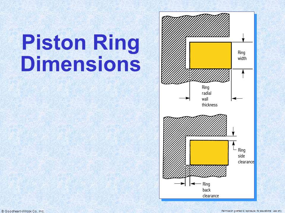Piston Ring Dimensions