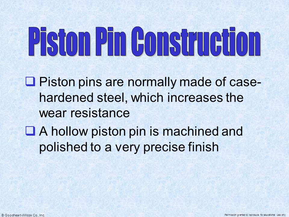 Piston Pin Construction