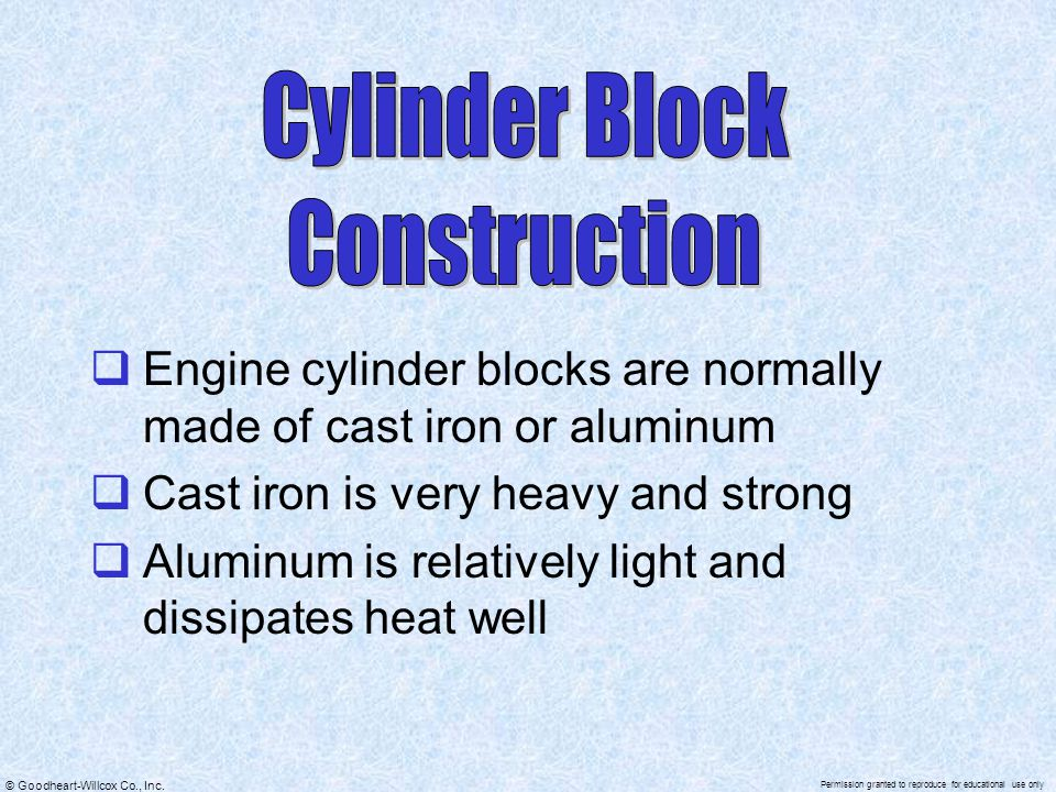 Cylinder Block Construction