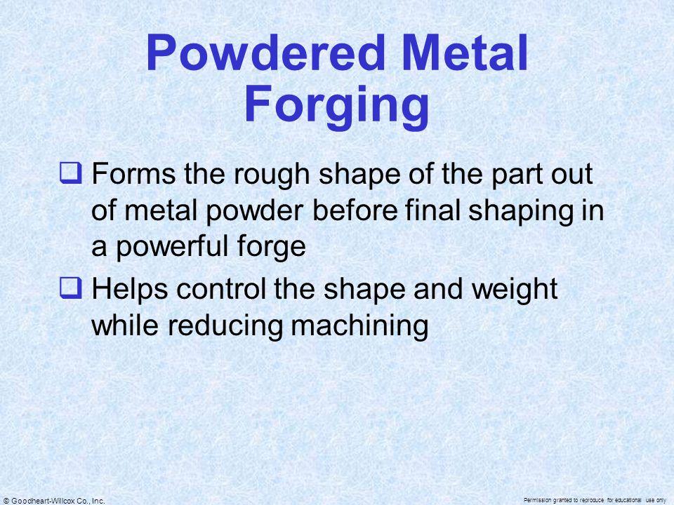 Powdered Metal Forging