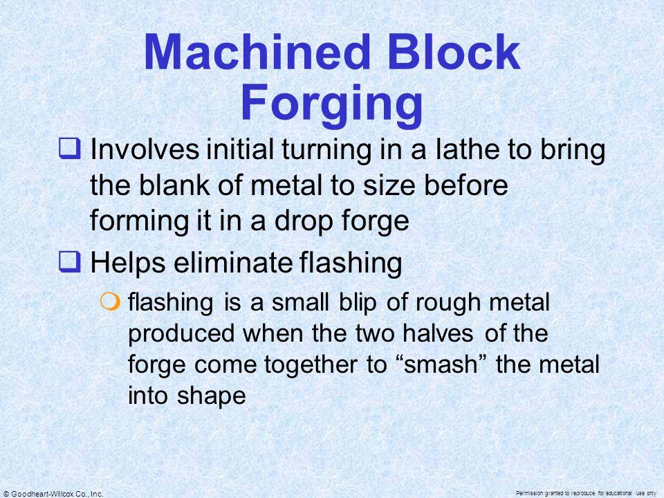 Machined Block Forging