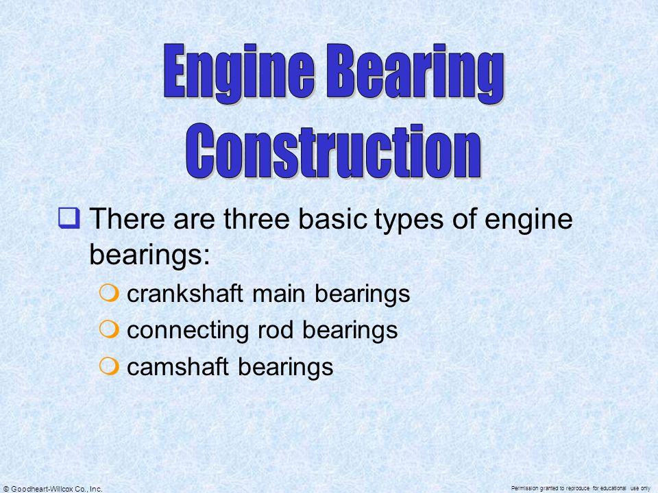 Engine Bearing Construction