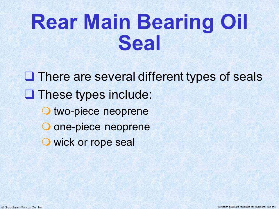 Rear Main Bearing Oil Seal