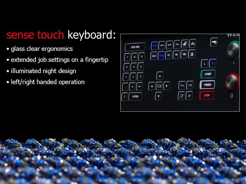 sense touch keyboard: glass clear ergonomics