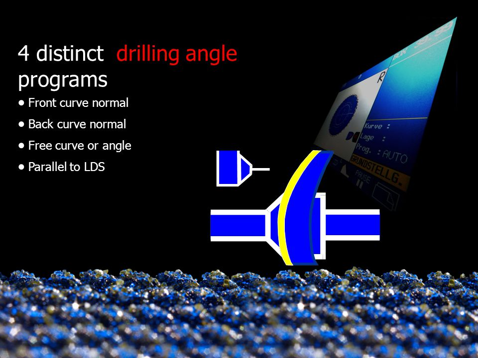 4 distinct drilling angle programs
