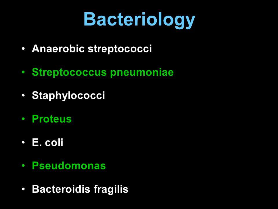 Bacteriology Anaerobic streptococci Streptococcus pneumoniae