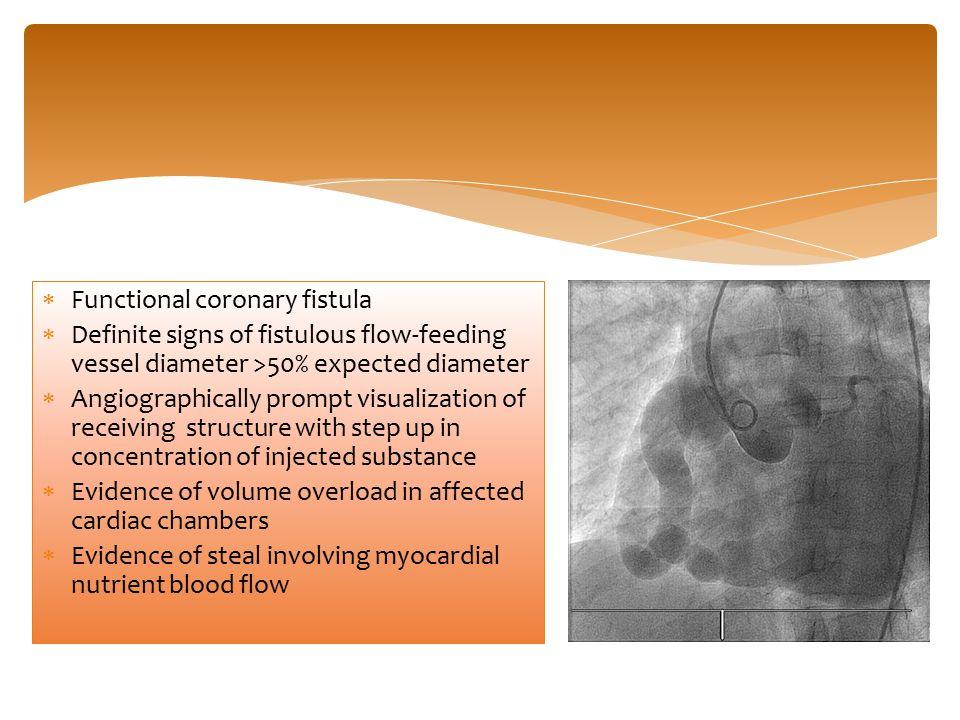 Functional coronary fistula