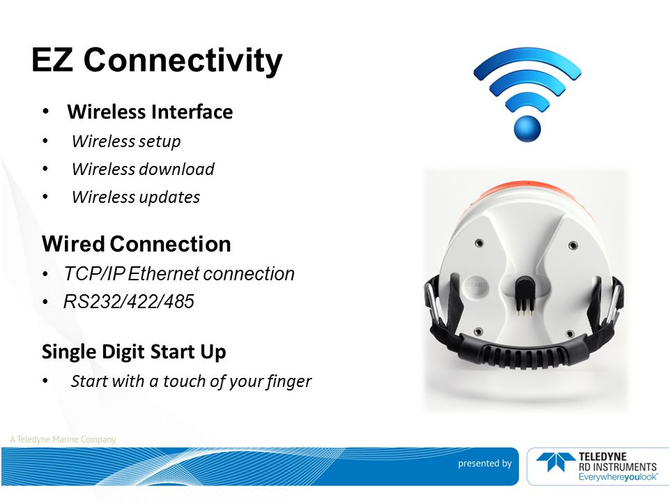 EZ Connectivity Wireless Interface Wired Connection
