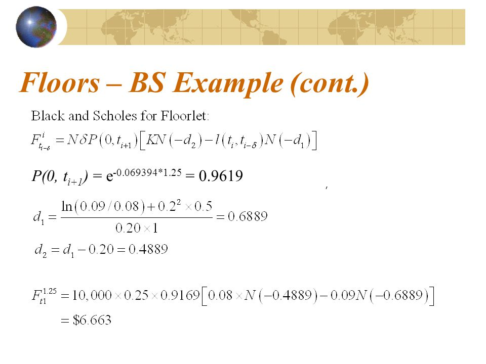 Floors – BS Example (cont.)