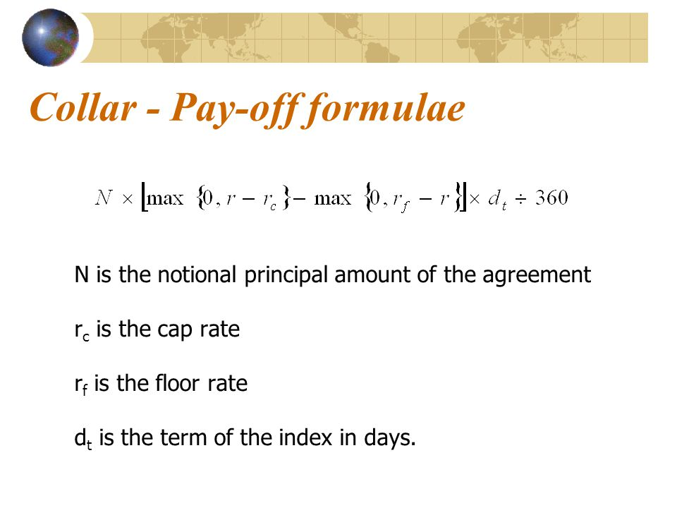 Collar - Pay-off formulae