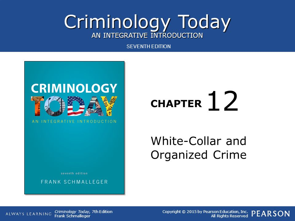 12 White-Collar and Organized Crime