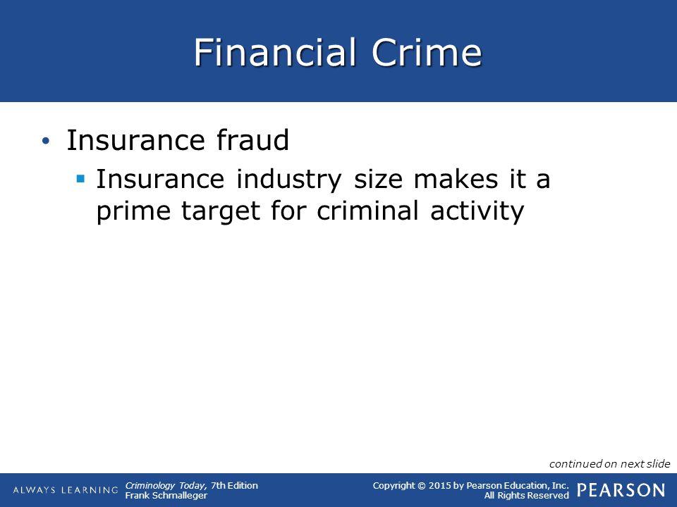 Financial Crime Insurance fraud