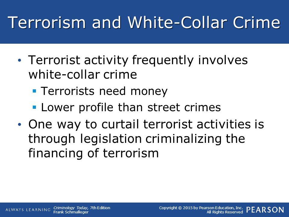Terrorism and White-Collar Crime