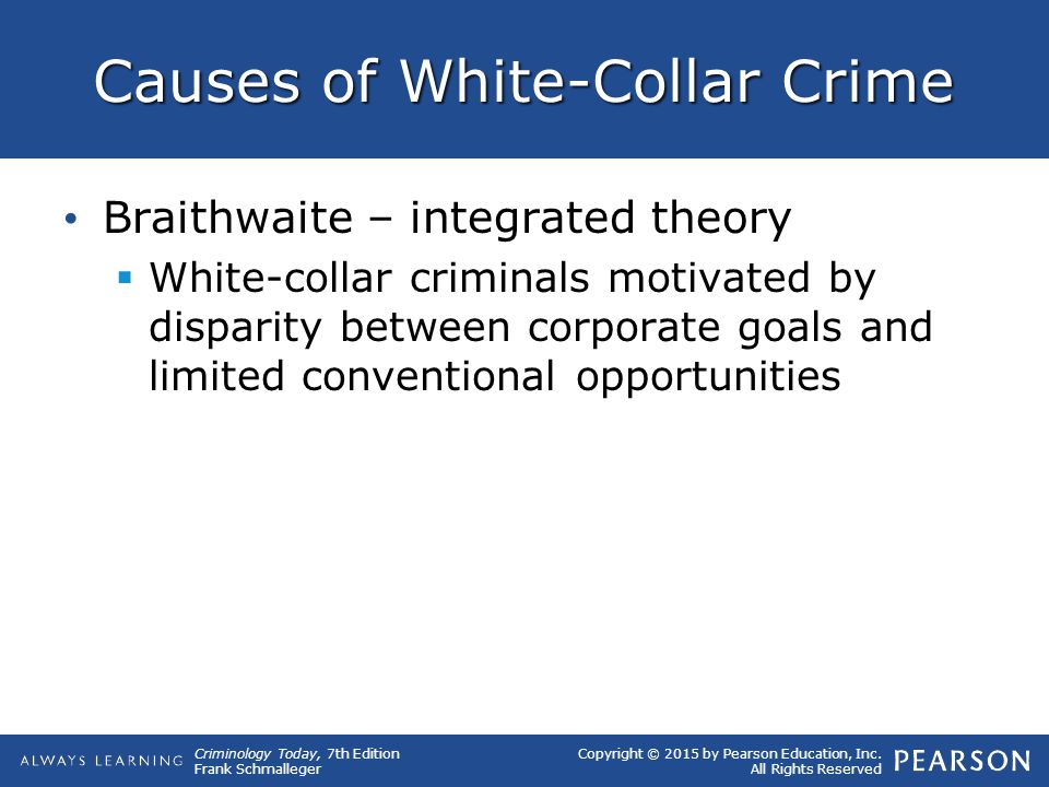 Causes of White-Collar Crime