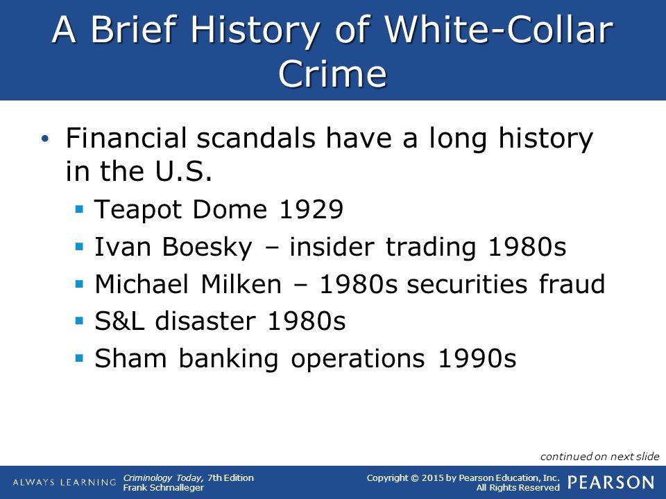 A Brief History of White-Collar Crime