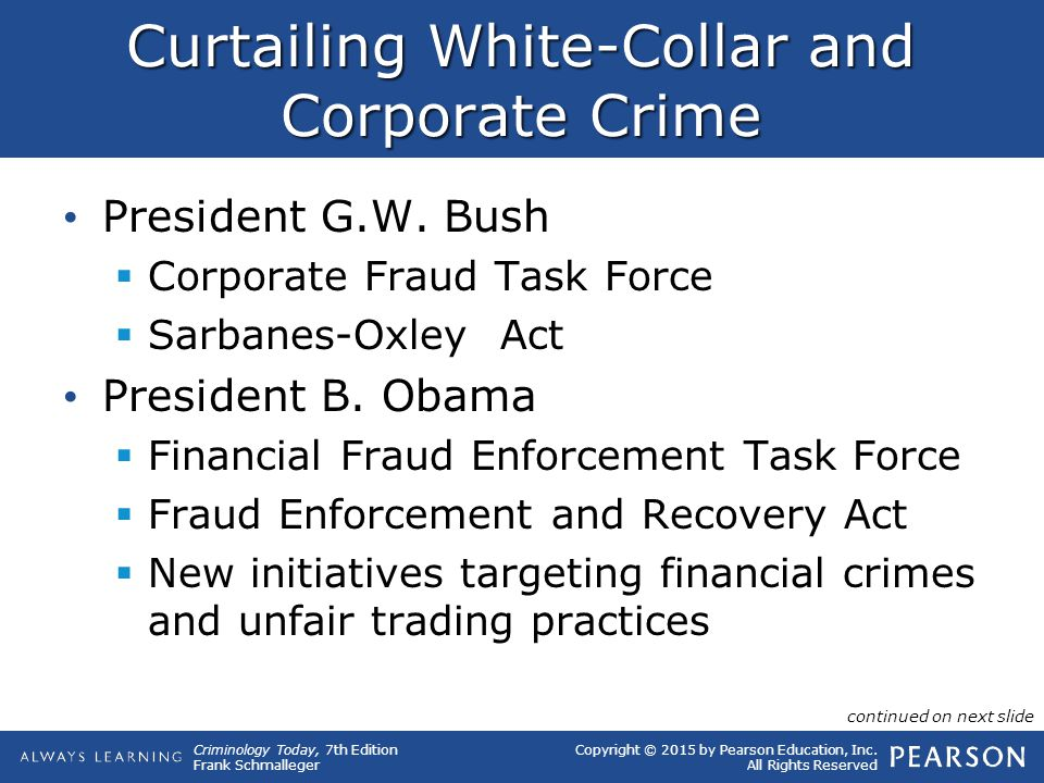 Curtailing White-Collar and Corporate Crime